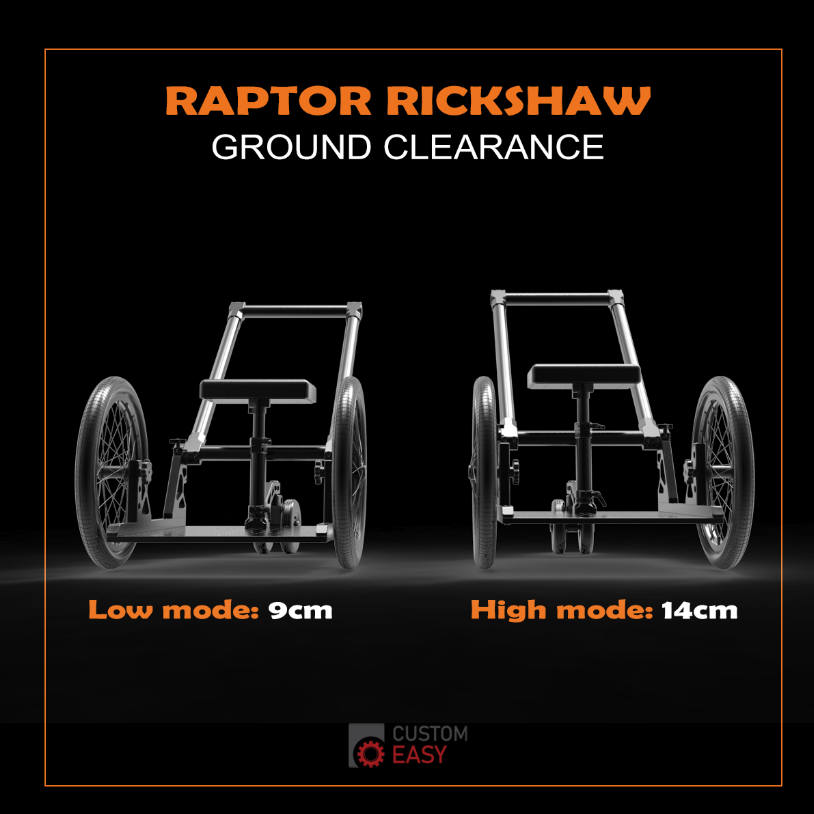 Raptor Rickshaw Ground Clearance
