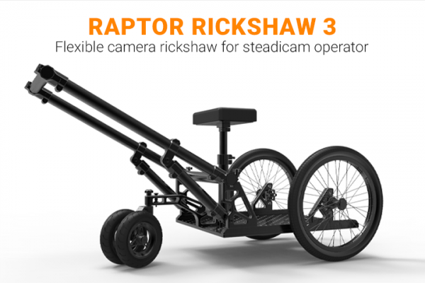 Raptor Rickshaw 3 - Flexible camera rickshaw for steadicam operator