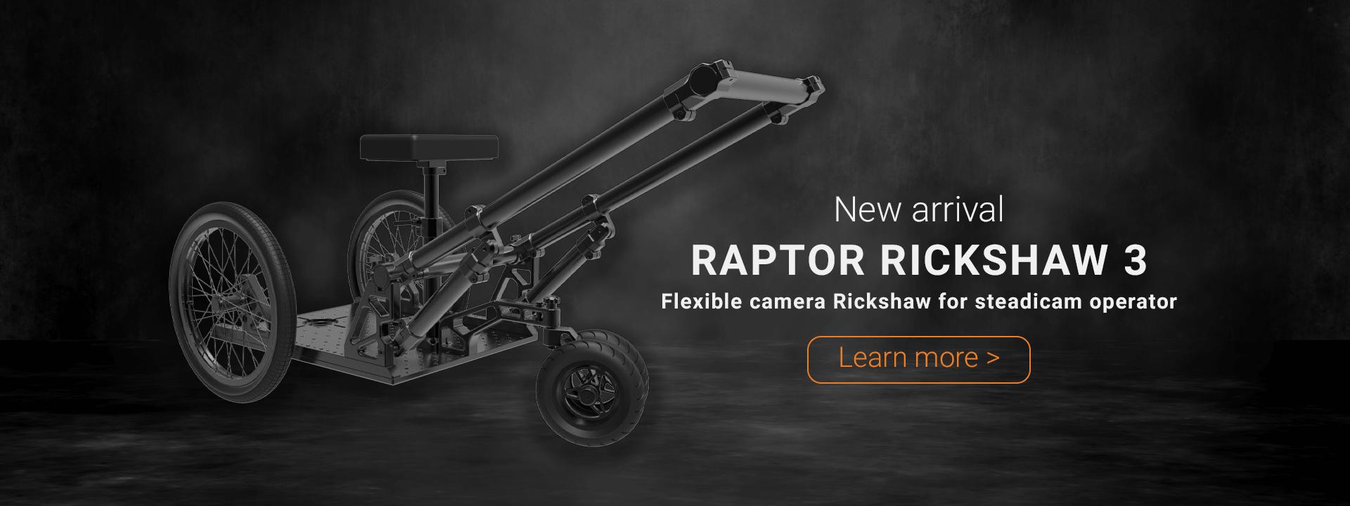 Raptor Rickshaw 3 - Flexible camera rickshaw for steadicam operators