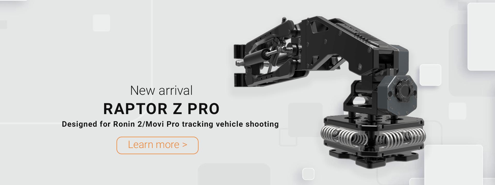 Raptor Z Pro designed for DJI Ronin 2 or Freefly Movi Pro tracking vehicle shooting